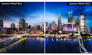 Interactive view of Brisbane